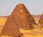 Pyramids in Sudan Royalty Free Stock Photos