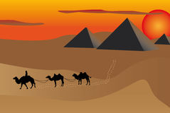 Pyramids at sunset Stock Photos