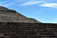 Pyramids of Teotihuacan Royalty Free Stock Photos