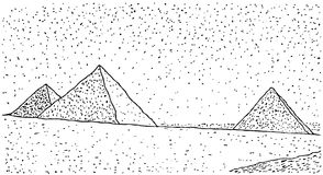Pyramids (vector) Royalty Free Stock Images
