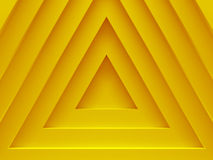 Pyramids. Yellow abstract background. This. Pattern works for text backgrounds, web design, print or mobile application. 3D illustration Stock Photo