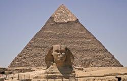 pyramidsphinx Royaltyfria Bilder