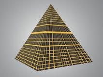 pyramidtech vektor illustrationer