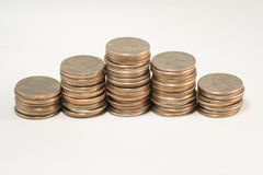Pyramind of Quarters Stock Photo