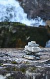 Pyramyd of stones- symbol of faith in miracle and the fulfillment of desires. royalty free stock photo