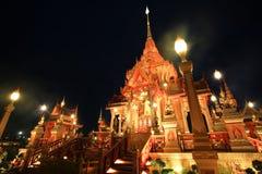 Pyre de funeral real brilhante da princesa tailandesa fotografia de stock royalty free