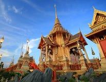 Pyre fúnebre real em Sanam Luang imagens de stock royalty free