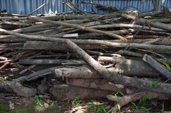 Pyre in the garden. Old pyre in the garden royalty free stock photography