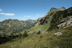 Pyrenean βουνά σε Ariege, Γαλλία Στοκ Φωτογραφίες