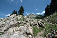 Pyrenean βουνά σε Ariege, Γαλλία Στοκ Εικόνα