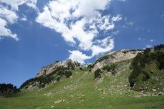 Pyrenean βουνά σε Ariege, Occitanie στο νότο της Γαλλίας Στοκ Εικόνες