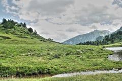 Pyrenean τοπίο σε Ariege, Occitanie στο νότο της Γαλλίας Στοκ εικόνα με δικαίωμα ελεύθερης χρήσης