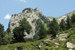 Pyrenean τοπίο σε Ariege, Occitanie στο νότο της Γαλλίας Στοκ Εικόνες
