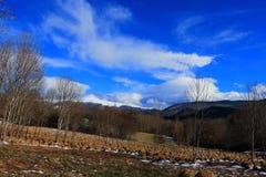 Pyrenean Landschaft in Aude, Frankreich lizenzfreie stockfotos