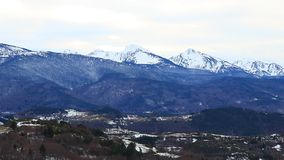 Pyrenean mountain in Ariege, France. Pyrenean mountain in Ariège with dramatic sky, Occitanie in South of France stock video