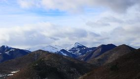 Pyrenean mountain in Ariege, France. Pyrenean mountain in Ariège with moving clouds filmed in timelapse, Donezan in Occitanie, South of France stock video