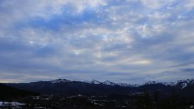 Pyrenean mountain in Ariege, France. Pyrenean mountain in Ariège with moving clouds filmed in timelapse, Occitanie in South of France stock video footage