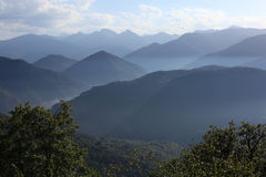 Pyrenees. French Pyrenees in the mist from above Stock Image