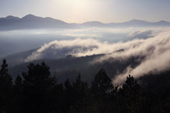 Pyrenees. French Pyrenees in the clouds Stock Photos