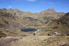 Pyrenees. Spectacular mountain and lakes in Andorra, in the Pyrenees royalty free stock images