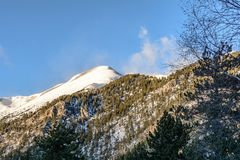 The Pyrenees in Andorra. stock photo
