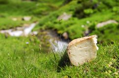 Pyrenees cheese. Mountains Pyrenees cheese Stock Images
