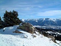 Pyrenees da Roc de la Calme Fotografie Stock Libere da Diritti
