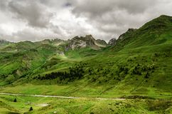 Pyrenees gór krajobraz fotografia stock