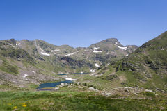 Pyrenees in July. Landscape of the Pyrenees in Andorra Stock Photography