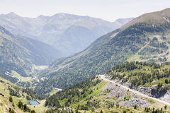 Pyrenees in July. Landscape of the Pyrenees in Andorra Royalty Free Stock Photo