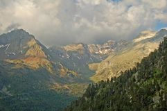 Pyrenees landscape. Great Pyrenees under early morning sunlight Royalty Free Stock Photos