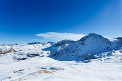 The Pyrenees landscape. Landscape of Pyrenees mountains at winter time stock photo