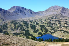Pyrenees mountain and lake Royalty Free Stock Photo