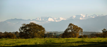 Pyrenees Mountain Range. Stock Images