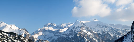Pyrenees mountain range panorama Royalty Free Stock Images
