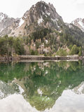Pyrenees Mountain reflection Royalty Free Stock Photography