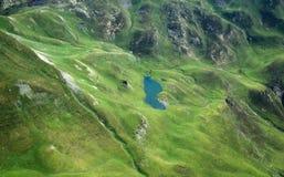 Pyrenees mountains. Aerial Pyrenees landscape taken from the summit of the Pic du Midi de Bigorre mountain Royalty Free Stock Image