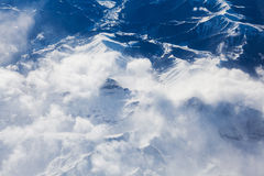 Pyrenees mountains amazing aerial view Stock Photos