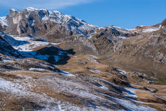 Pyrenees mountains frontera del Portalet, Huesca, Aragon, Spain Stock Image