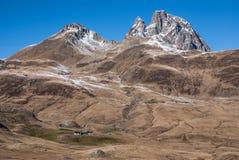 Pyrenees mountains frontera del Portalet, Huesca, Aragon, Spain Stock Photography
