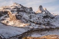 Pyrenees mountains frontera del Portalet, Huesca, Aragon, Spain Royalty Free Stock Photography
