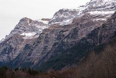 Pyrenees mountains frontera del Portalet, Huesca, Aragon, Spain Stock Images