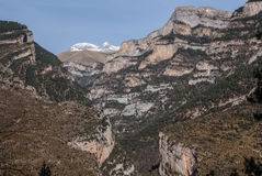 Pyrenees mountains frontera del Portalet, Huesca, Aragon, Spain Royalty Free Stock Photos