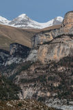 Pyrenees mountains frontera del Portalet, Huesca, Aragon, Spain Royalty Free Stock Image