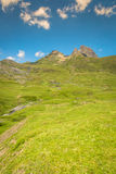 Pyrenees mountains frontera del Portalet, Huesca, Aragon, Spain.  Royalty Free Stock Photography