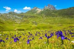 Pyrenees mountains frontera del Portalet, Huesca, Aragon, Spain Stock Photos