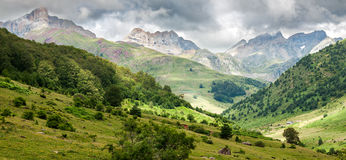 Pyrenees mountains landscape Stock Image