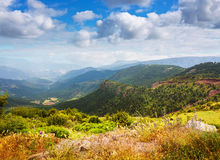 Pyrenees mountains landscape in summer Stock Photos