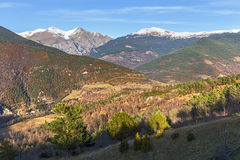 Pyrenees range view from Campelles Stock Images