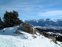 Pyrenees from Roc de la Calme. Font Romeu. Good skiing centre in the French Pyrenees Royalty Free Stock Photos